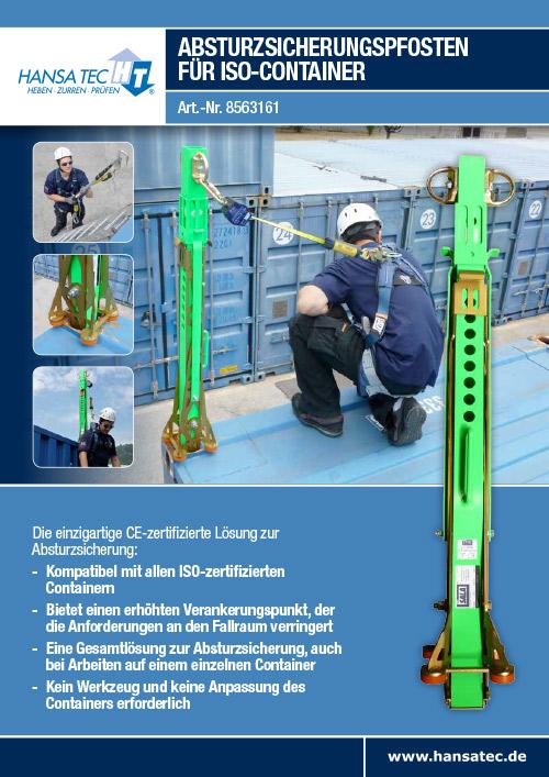 Absturzsicherungspfosten ISO Container Hansa Tec