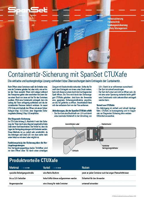Containersicherung CTUXafe Hansa Tec SpanSet