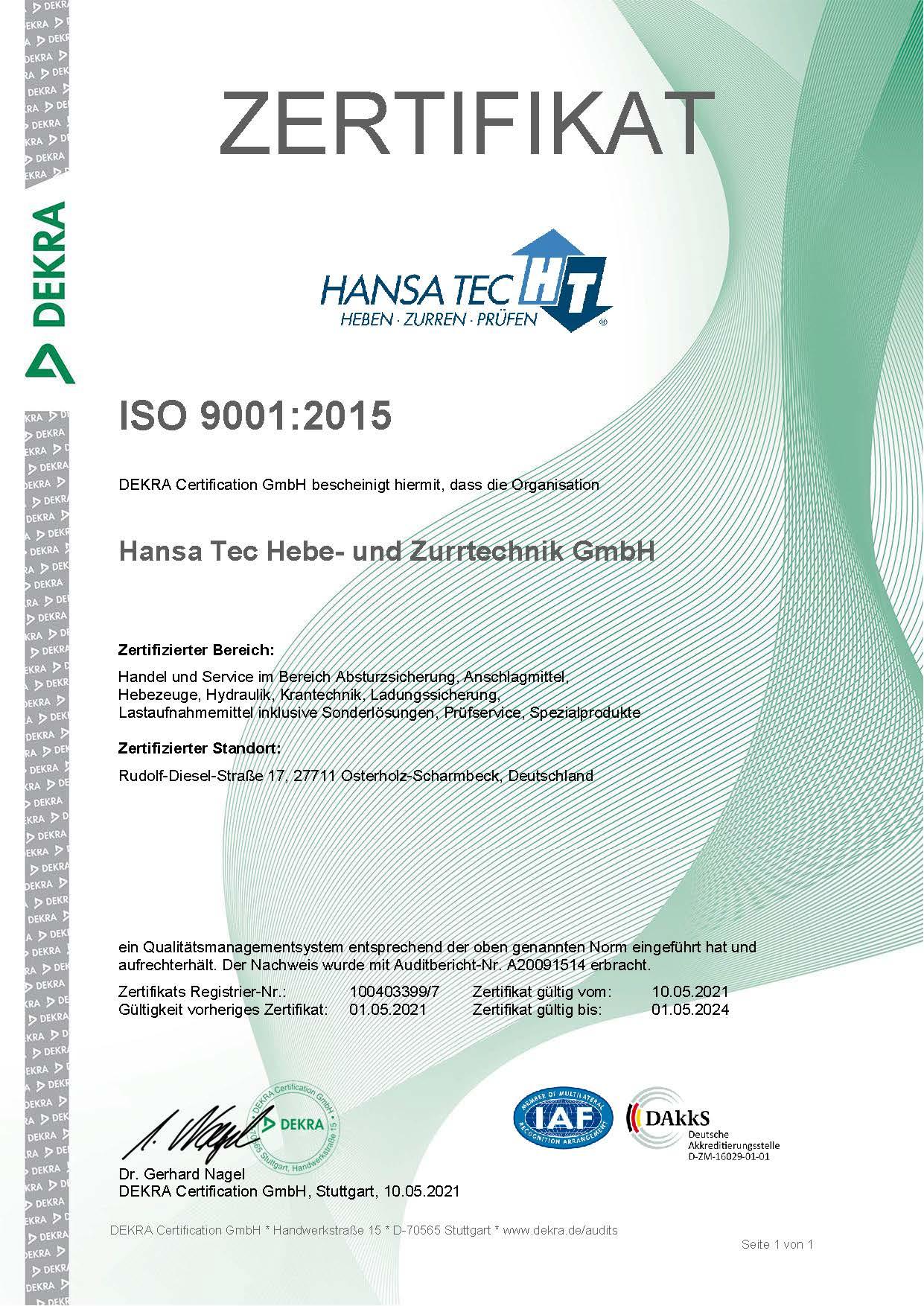 Zertifikat 100403399 7 ger
